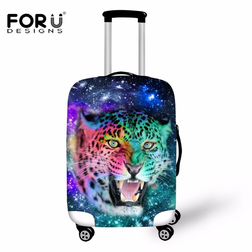 Forudesigns Туристические товары Чемодан защитный эластичный чехол 3D Вселенной Тигр Волк дождевик для 18-30 дюймов багажника чемодан