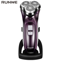 RUNWE USB 3D Blade Beard Washable Electric Shaver For Men 110 240V Professional Men S Rechargeable