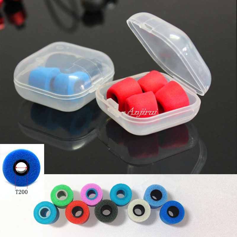 ANJIRUI T200 (LMS) Caliber Ear Pads Memory Foam Tips Sponge T200 Ear Pads Cotton For In Ear Headphone C Set Headsets Accessories