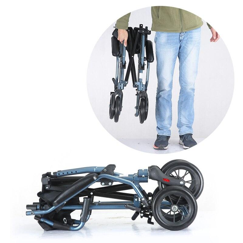 Fauteuil roulant pliant léger Cofoe fauteuils roulants manuels portatifs fauteuil roulant de voyage pour les personnes âgées les soins de santé handicapés