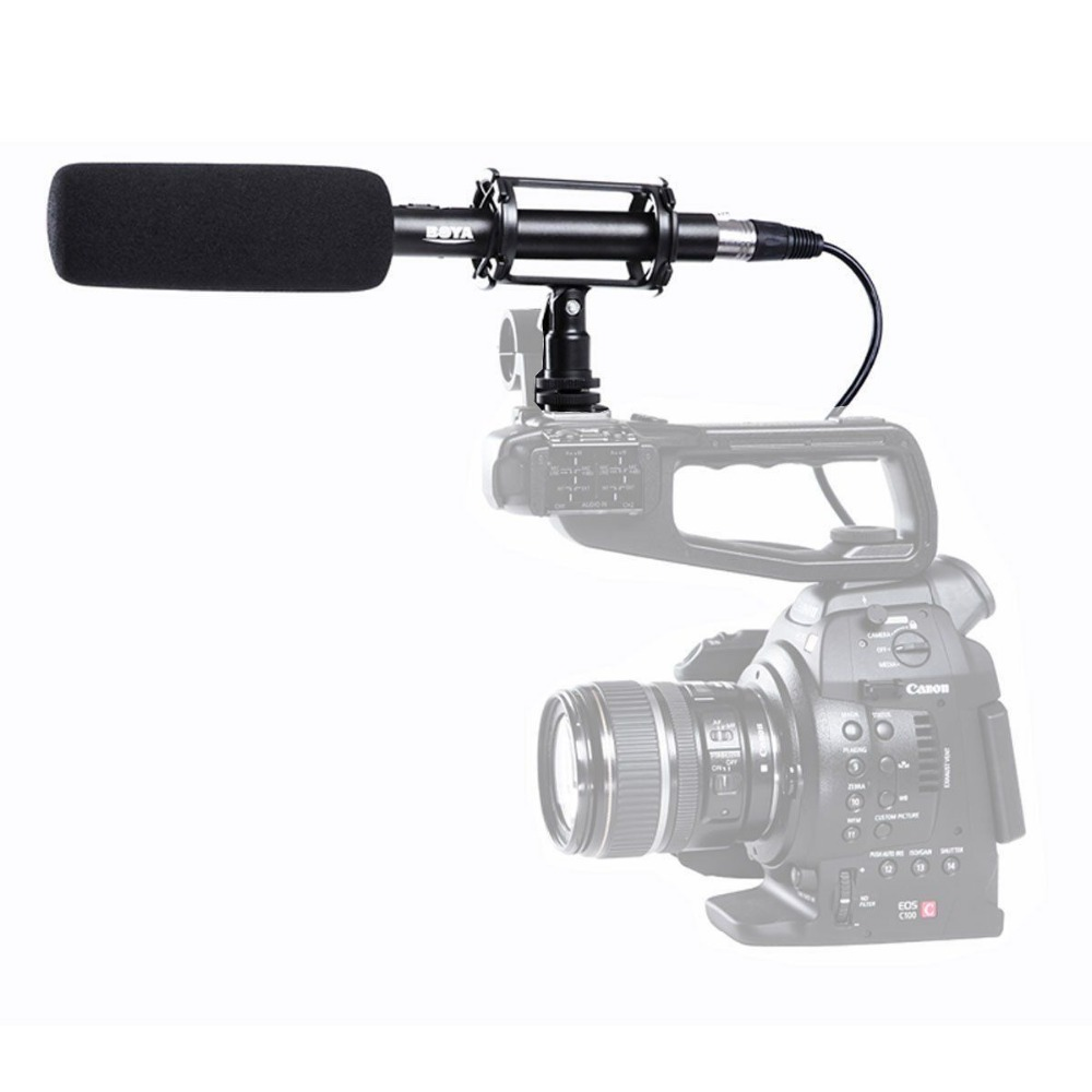 BY-PVM1000 Professional DSLR Condenser Shotgun Microphone Video Interview Reporting for Canon Nikon Sony DSLR Cameras original new for nihon kohden pvm 2700 pvm 2703 pvm 2701 sb 201p x076 monitor rechargeable battery 12v 3700mah free shipping
