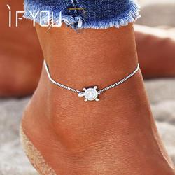 Если вы Bohimia морские черепахи ножной браслет Винтаж для женщин летние, пляжные, в богемном стиле браслет на ножная цепочка ног ножные