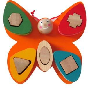 Πεταλούδα σχήμα γεωμετρία πολύχρωμα δομικά παιχνίδια μπλοκ εκπαιδευτικά παιχνίδια που