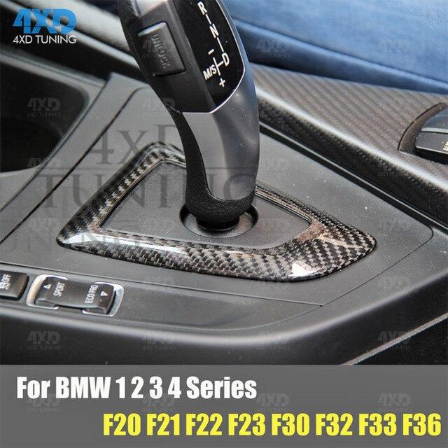 F32 X5 Carbon Gear Shift Knob Cover For BMW F15 F20 F10 F22 F30 F34 F36 F16 F06 F26 F25 Surround Base Cover Interior Trim 2016