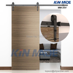 KIN MADE MM20V Free shipping 6FT drewniane drzwi do stodoły zestawy strzałki kształt drewniane drzwi przesuwne w Slajdy od Majsterkowanie na