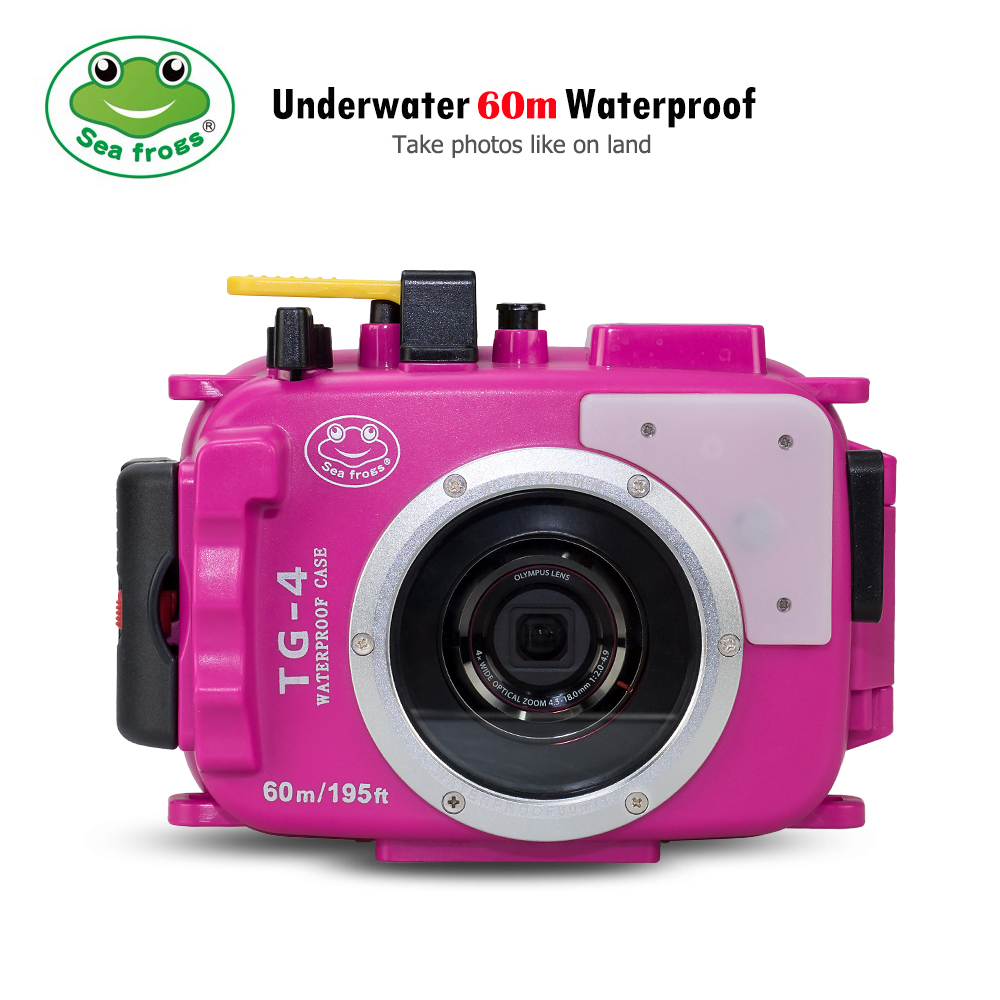 For Olympus TG4 Camera Underwater Housing Case Waterproof Diving Bag Shoot Freely All Function Equipment Bright Colorful Photo