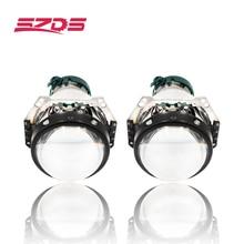 SZDS 2 قطعة السيارات سيارة العلوي 3.0 بوصة ثنائية زينون هيلا 3R G5 5 العارض عدسة سيارة التصميم التحديثية رئيس ضوء تعديل D2s