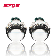 SZDS 2pcs Auto Car Headlight 3.0 inch Bi xenon Hella 3R G5 5 Projector lens Car styling Retrofit head light Modify D2s