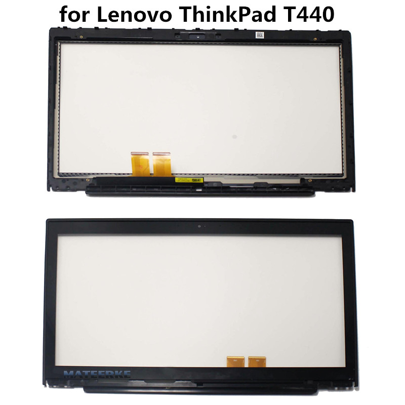 "100% NEW with Frame 14.0"" Touch Digitizer Glass Replacement Parts for Lenovo ThinkPad T440"