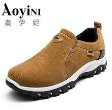 2017 Spring Men Casual Shoes Fashion Suede Leather Outdoor Rubber Men Shoes Plush Fashion Platform Male Footwear Plue Size 39-44