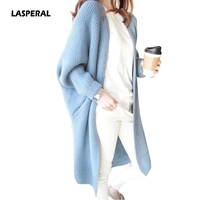 LASPERAL 10 Colors Batwing Sleeve Long Cardigan Sweaters Women 2017 Autumn Winter Casual Knit Loose Jumper