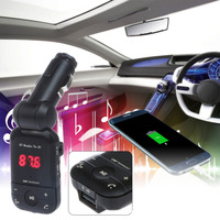 12V 24V Auto Stereo Bluetooth Hands Free Car Kit FM Transmitter U Disk TF Card MP3