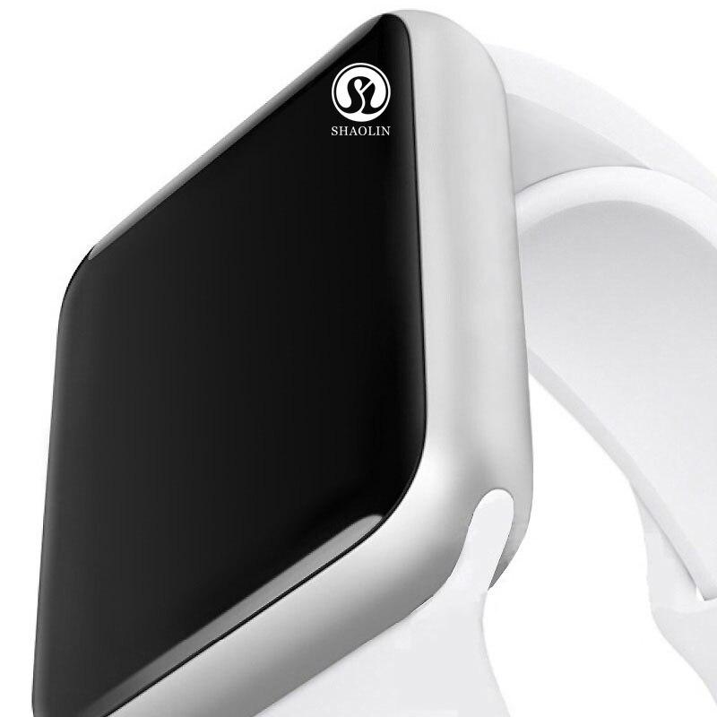 Bluetooth Smart Watch in Heartrate Pedometor smartwatch 1:1 caso per ios di apple iPhone e Android phone (Pulsante Rosso)Bluetooth Smart Watch in Heartrate Pedometor smartwatch 1:1 caso per ios di apple iPhone e Android phone (Pulsante Rosso)