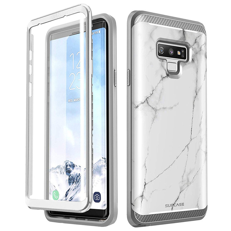 Image 3 - SUPCASE For Samsung Galaxy Note 9 Case UB Neo Full body Protective Dual Layer Armor Marble Case With Built in Screen Protector-in Fitted Cases from Cellphones & Telecommunications