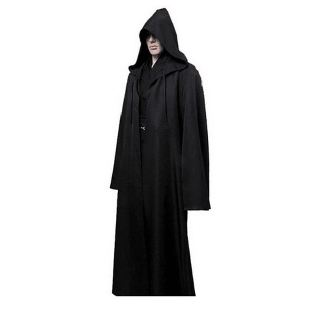 Darth Vader Cosplay Clothes Terry Jedi Black Robe Star Wars Jedi Knight Hoodie Cloak Halloween Cosplay Costume Cape For Adult 3