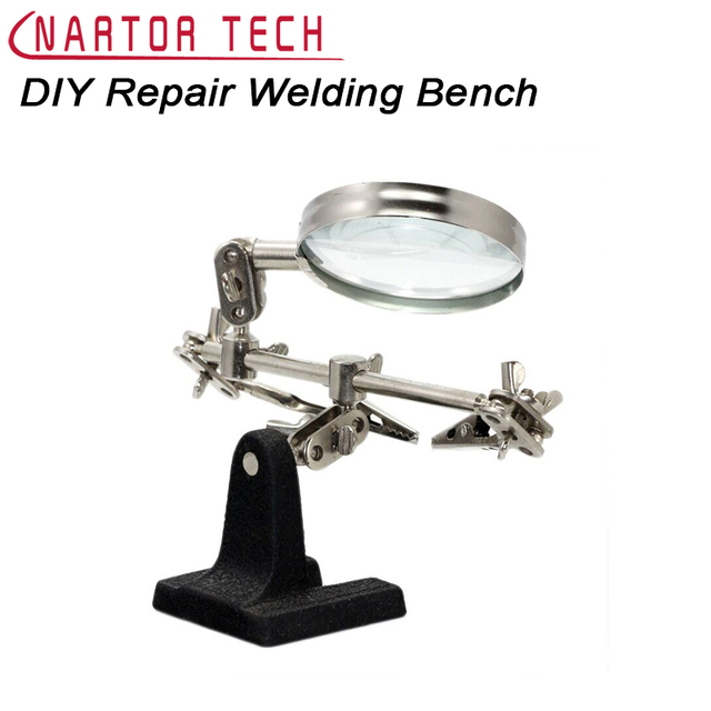 DIY Kit Repair Welding Bench Magnifying Tool Support Circuit Board Repair Working Table Clamp Tool DIY Electronic Suite