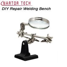 Diyキット修理溶接ベンチ拡大鏡ツールサポート回路基板修理作業テーブルクランプツールdiy電子スイート