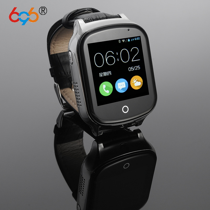 696 A19 3G Smart GPS Tracker Watch Kids Oldman Wristwatch WIFI Locator With Camera Voice Message SOS Free APP IOS Android Phone mictrack advanced 3g personal tracker mt510 for kids elderly 2 way voice sos 3d sensor support wcdma umts 850 2100mhz
