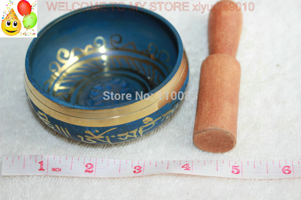 Золото свинка замечательный чакра Поющая чаша медитация Диаметр 8.5 см стороны молотком молоток античный сад серебряные украшения Латунь