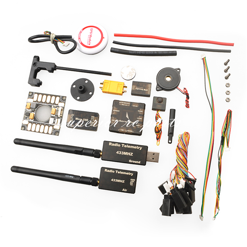 Micro PX4 2.4.6 Flight Controller + M8N GPS + PPM Encode + OSD + 433Mhz Radio Telemetry 100mw Combo micro px4 2 4 6 flight controller m8n gps ppm encode osd 433mhz radio telemetry 100mw combo