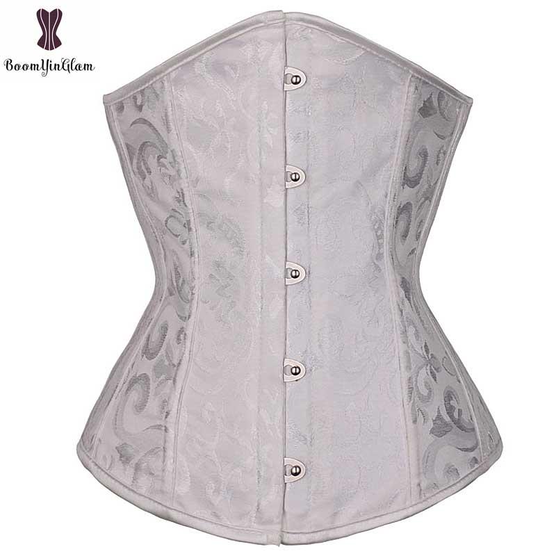 ad9c8614413 Dropwow free shipping spiral steel boned waist cincher mini corset ...