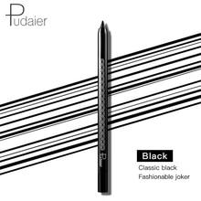 Brand Pudaier cool black eyeliner gel pencil long lasting waterproof wooden handle kajal pen