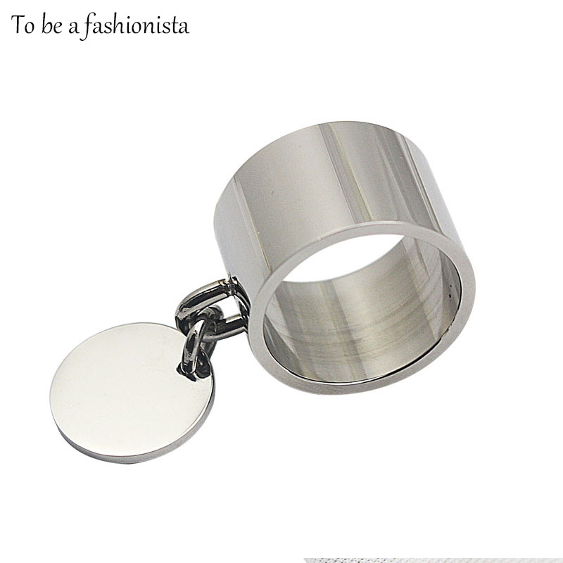 fashion jewelry unisex rings with charm stainless steel