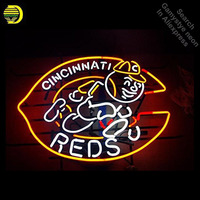 Neon Signs for CR Reds Handcrafted Cincinnat Neon Bulbs sign Glass Tube Decorate Store Wall neon light maker dropshipping decor|Neon Bulbs & Tubes|   -