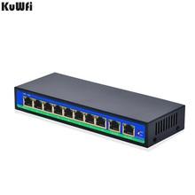 8 + 2Ports Netzwerk switch POE Schneller Schalter Mit 8POE Ports & 2Uplink Ethernet Port für Kamera/AP Bis zu 250M