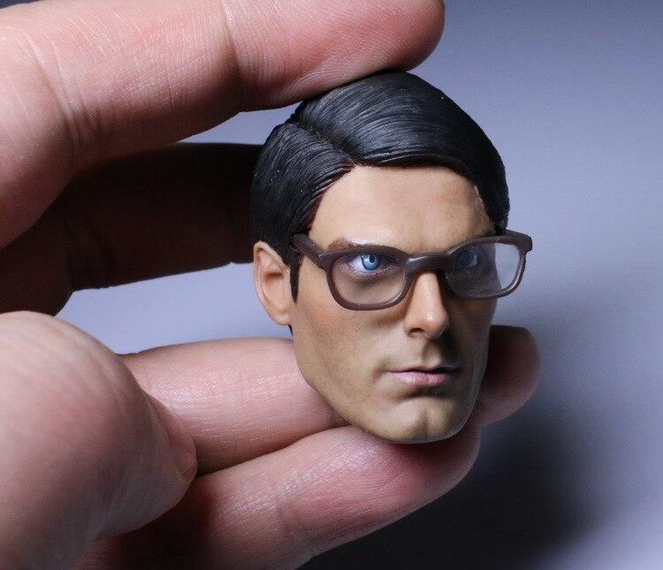 """1/6 escala figura muñeca forma de cabeza para 12 """"figura de acción muñeca accesorios 1978 Superman cabeza masculina tallada no incluye cuerpo. ropa-in Muñecas from Juguetes y pasatiempos    3"""