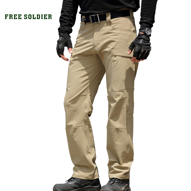 38ea5baa8b56 FREE SOLDIER outdoor sports tactical military men s hiking pants multi  pockets camping climbing pants