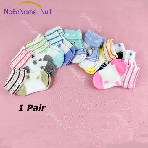 1 Pair Cartoon Warm Baby Infant Toddler Non-slip Booties Anklet Boots Shoes Ankle Socks #046