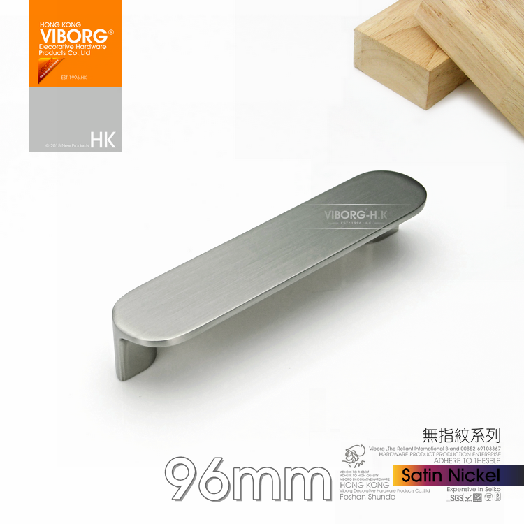 viborg top quality 96mm zinc alloy modern kitchen cabinet cupboard door pull drawer handles pulls