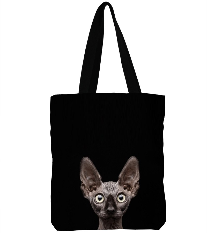 3D Printed Sphynx Cat Canvas Shoulder Bag Handbag Large Soft Shopping Bag Canvas Beach Bag Tote-13