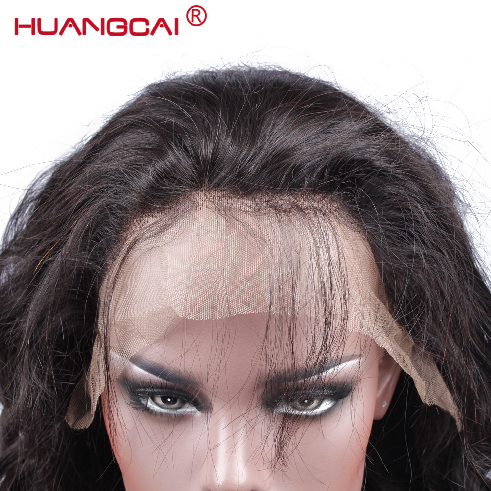 Huangcai Lace Front Wigs For Black Women Pre Plucked 150% Density Loose Wave Brazilian Frontal Human Hair Wigs With Baby Hair
