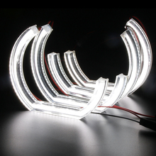 4x For DTM Style White Crystal LED angel eyes BMW 3 Series E90 E92 E93 M3 Coupe and cabriolet 2007-2013 Car styling