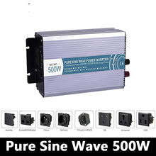 500W pure sine wave inverter,DC 12V/24V/48V to AC 110V/220V,off grid inversor,solar power invertor,voltage converter LED Display(China)