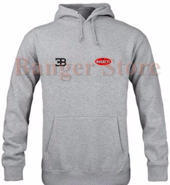 Bugatti brand car logo women and men's pullover hoodie sweatshirt cotton  overalls 4s repair shop