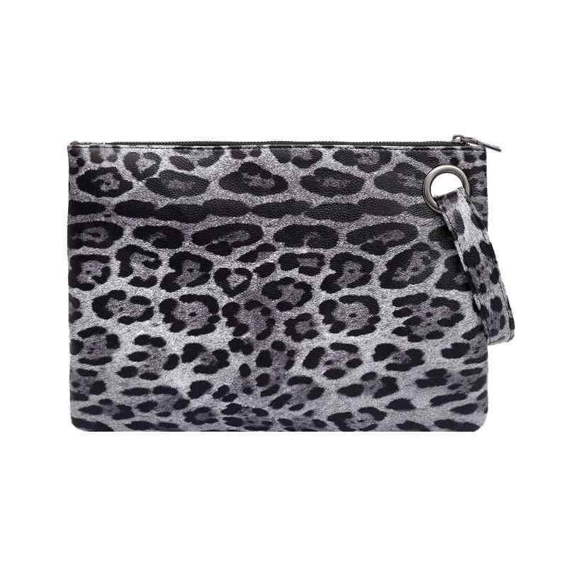c42dbb5866798 Leopard Print Clutch Bag PU Leather Hanbags Women Zipper Coin Purse Fashion Female  Evening Clutch Bags