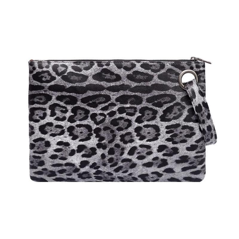 Leopard Print Clutch Bag PU Leather Hanbags Women Zipper Coin Purse Fashion  Female Evening Clutch Bags Girls Envelope Bag 2018 e10d313b08b61