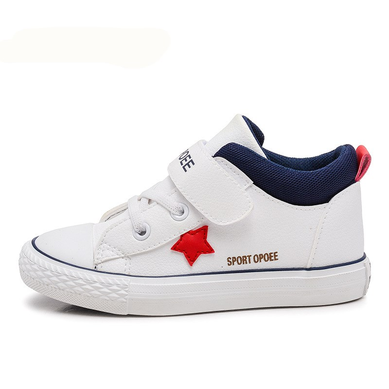 AI LIANG Spring Casual Children Shoes Sneakers Leather High Help Waterproof Black red Kids Boots Boys Girls Shoes