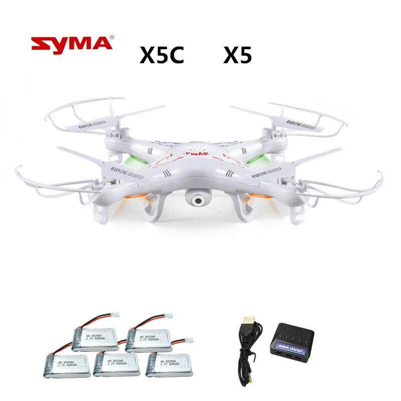 Syma X5C X5C-12.4G (zangão Com Câmera 2.0MP) RC Zangão Quadcopter ou x5 Syma x5-1 (sem Câmara) 2.4G 4CH RC Quadcopter Dron brinquedo
