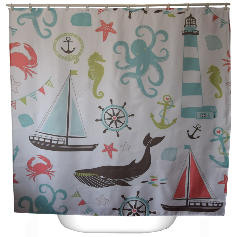 Sea Turtle Bathroom Accessories Compare Prices On Ocean Shower Curtain Hooks Online Shopping Buy