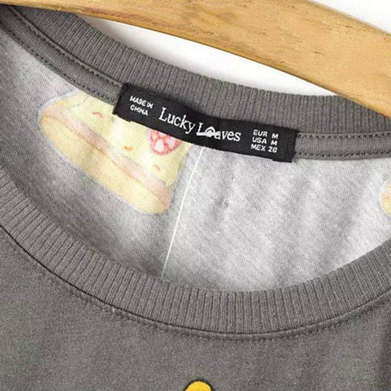 Ingen DRAMA T-shirt Kvinder Cute Pizza Letters Print Kortærmet Toppe - Dametøj - Foto 4