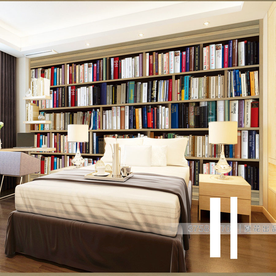 3 Designs Bookcase Shelf 3d Photo Wallpaper for Walls 3d Floring Mural Rolls Livingroom Household Decor Decal Papel De Parede