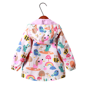 Image 2 - 2020 New winter spring girls top clothing fashion warm children outerwear for girls 2 9Y rainbow print kids jakcets coats girls