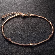Модные браслеты розового золота для женщин темпераментные Милые
