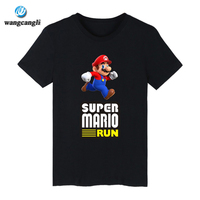 Super Mario Cartoon T Shirt Men Hip Hop Short Sleeve T Shirts And T Shirt Men