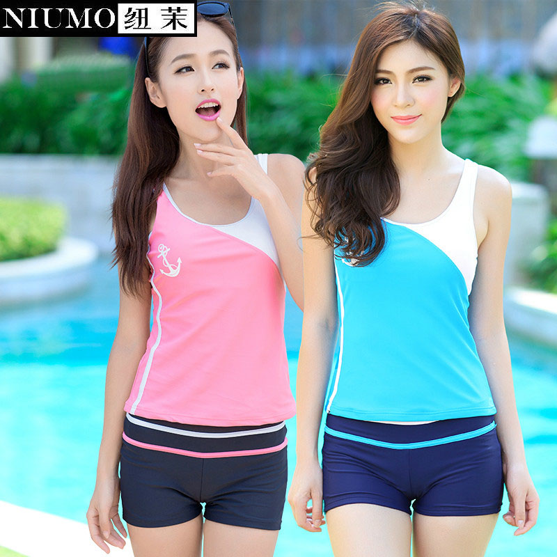 NIUMO Two Pieces small chest together Show thin Cover the belly Fission bathing suit student movement swimsuit Bubble hot spring