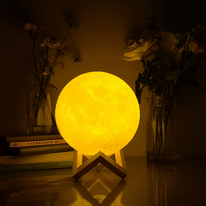 Free Dropship Moon Lamp 8cm To 24cm Colorful Change Touch USB Led Night Light Creative Gift Get A USB Lamp For Free